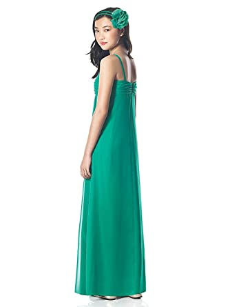 e8e6ea83a8c Amazon.com  BHL Chiffon Long Junior Bridesmaid Dress Flower Girl Dress   Clothing