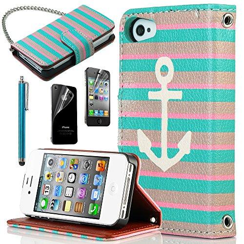 hot sale online f8219 7f511 iPhone 4S Case, iPhone 4 Case, ULAK Unique Wallet Case for Apple ...