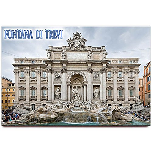 "Trevi Fountain fridge magnet 3""x2"" Rome Italy travel souvenir"