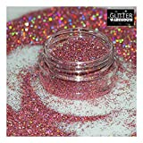 Pink - GlitterWarehouse Fine (.008'') Holographic Solvent Resistant Cosmetic Grade Glitter. Great for Makeup, Body Tattoo, Nail Art and More!