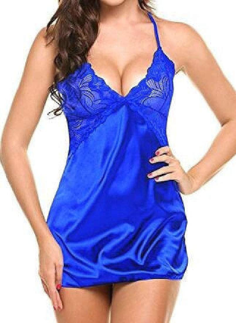 KLJR Women Lace Nightwear Hipster Spaghetti Strap Underwear