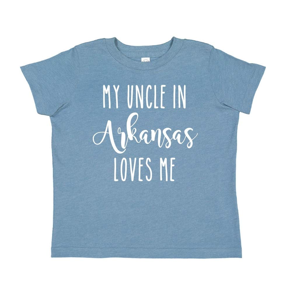 My Uncle in Arkansas Loves Me Toddler//Kids Short Sleeve T-Shirt