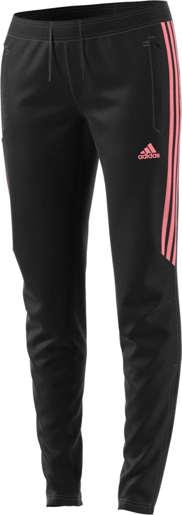 adidas Women's Soccer Tiro 17 Training Pants, Black/Light Flash Red, Medium by adidas