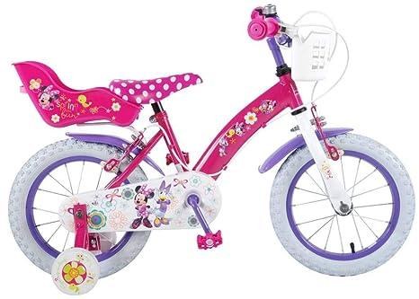 Disney Bici Bicicletta Minnie Mouse 14 Pollici Freni Sul Manubrio