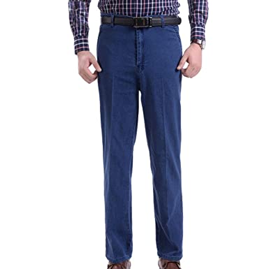 Kindoyo Spring And Summer Pants Men High Waist Trousers Plus Size