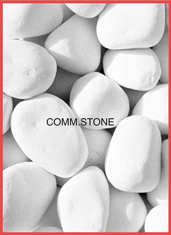 Arena de piedra blanca brillante de mármol Thassos para jardines, caminos, parterres y terrazas. Diámetro: 4-8 cm. Paquete de 7.00 kg.: Amazon.es: Jardín