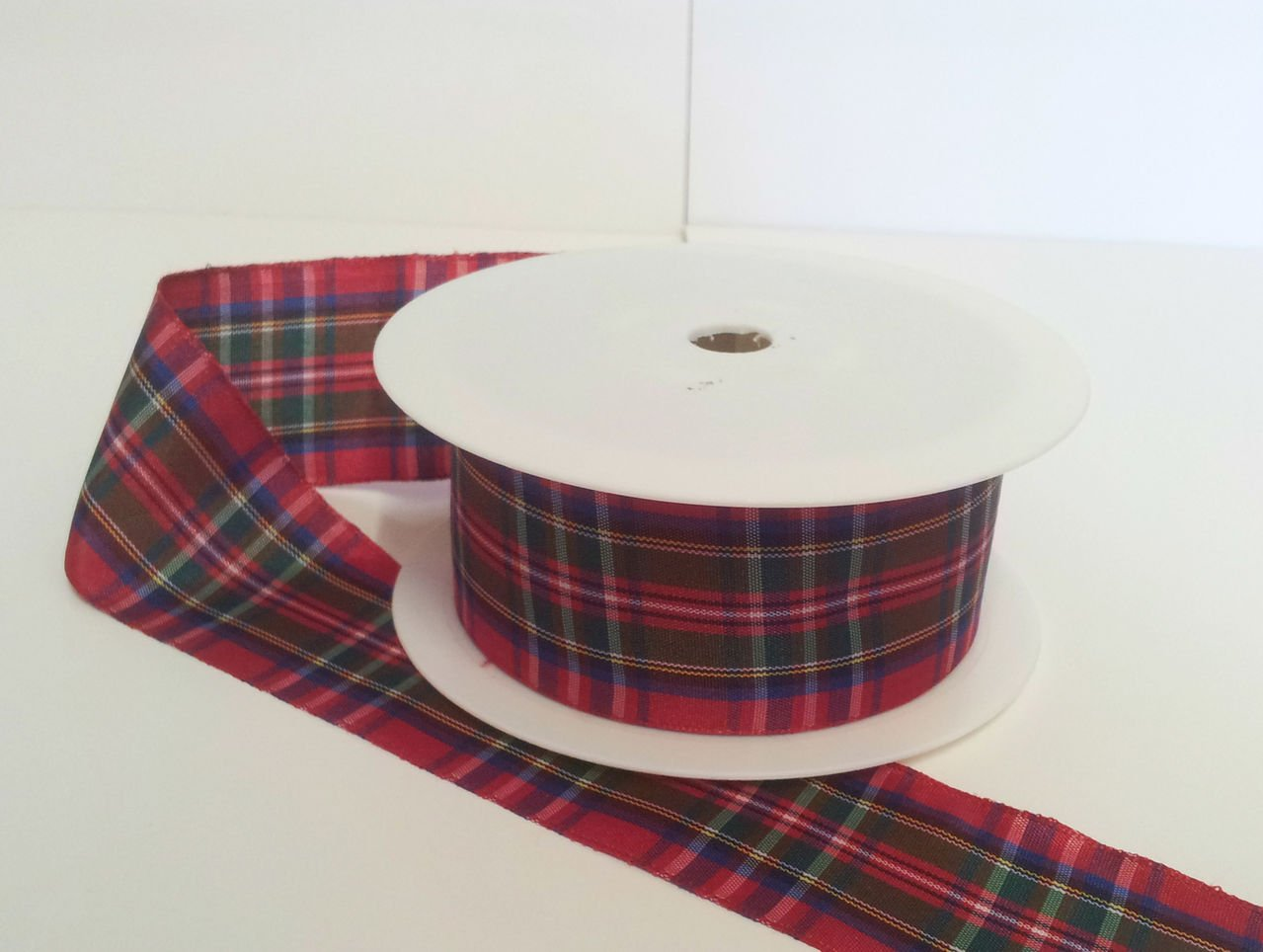 1 metre trim of Royal Stewart Tartan Ribbon 38mm wide RP RIBBON