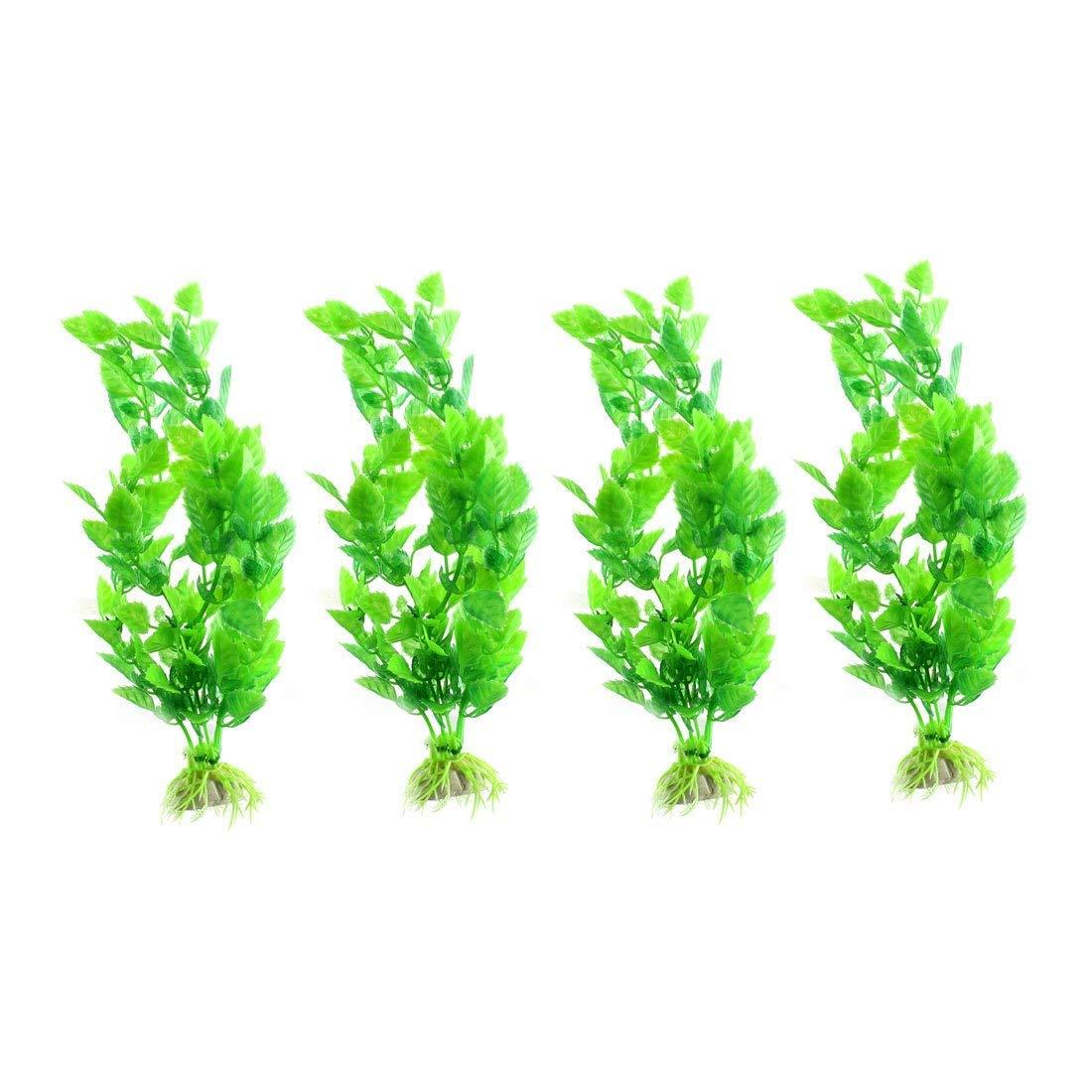1Pc Silicone Aquarium Fish Tank Artificial Coconut Trees Shape Aquascaping Green