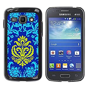 Be Good Phone Accessory // Dura Cáscara cubierta Protectora Caso Carcasa Funda de Protección para Samsung Galaxy Ace 3 GT-S7270 GT-S7275 GT-S7272 // Patter Oriental Royal Blue Golden
