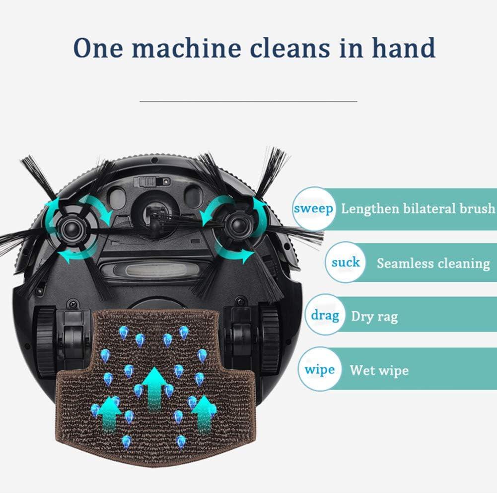 LAHappy Robot Aspirateur Laveur 2 en 1 avec Forte Aspiration Anti-Chute capteurs de poussière 3 Modes de Nettoyage Efficace sur Les Tapis,d\'or Gold
