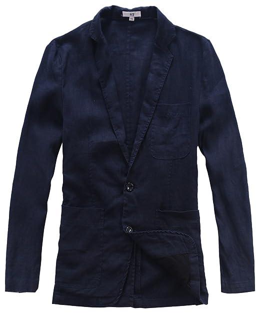 Insun Blazer para Hombre Chaqueta Verano Hombre Azul oscuro ES 50: Amazon.es: Ropa y accesorios