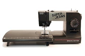 Toyota SUPERJ15PE Allround - Máquina de coser (brazo libre, 15 programas, utilidad para vaqueros, se incluye mesa de ampliación): Amazon.es: Hogar