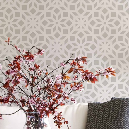 Kerala Allover Stencil - Reusable Stencil for Interior Home Decor - Trendy DIY Stencils - By Cutting Edge ()