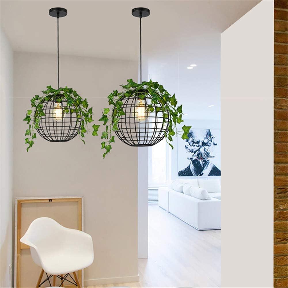 SXMY Viento Industrial Lámpara Esfera Retro Lámpara de Techo Lámpara de Techo LED Accesorio de Iluminación Interior Luces Decorativas para el Dormitorio Sala-Black: Amazon.es: Hogar