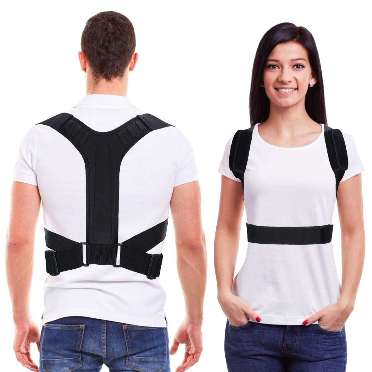 Back Brace Posture Corrector for Men and Women -Xdtlty Adjustable Upper Back and Legs Brace