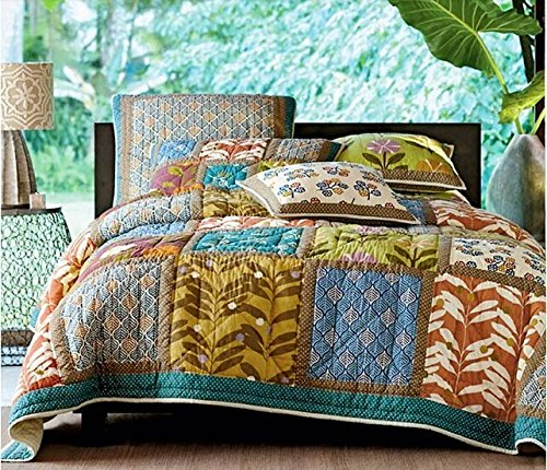 Tache 3 Piece Summer Day Party 100% Cotton Quilt ,California King