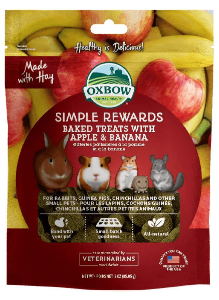 Oxbow Simple Rewards Baked Treats - Apple & Banana - 4oz (2 Pack)