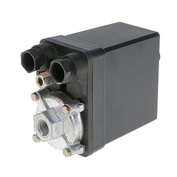 3-fase Interruptor de Presión Compresor de Aire Válvula Control de Un Solo Puerto SG-4A: Amazon.es: Bricolaje y herramientas