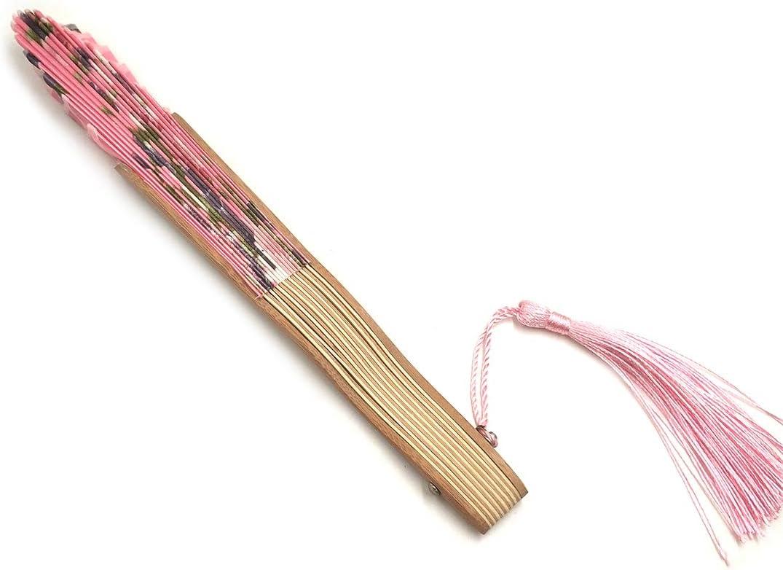 G/én/érique /Éventail de Main pour Femme Pliable Beau /éventail de Peinture Portable en Soie pour Sac /à Main Style Japonais Chinois Cadeaux de Mariage Petit /éventail Petit Cadeau pour Femme