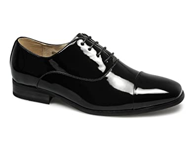 Goor DESMOND Mens Patent Square Toe Cap Dress Shoes Black  Amazon.co.uk   Shoes   Bags 36b964c38803