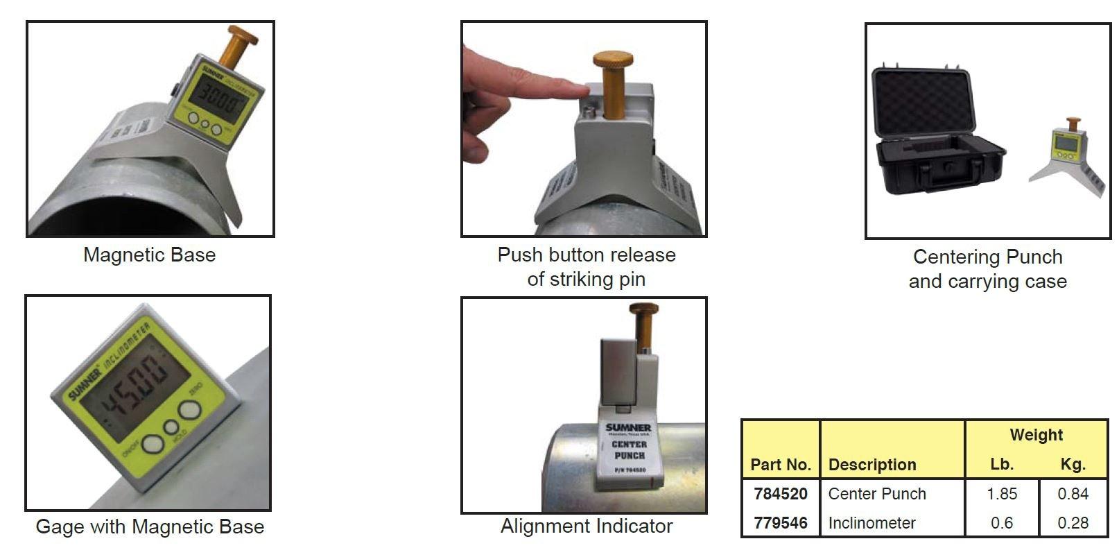Sumner Manufacturing 784520 Magnetic Centering Punch, Steel/Stainless Steel by Sumner Manufacturing
