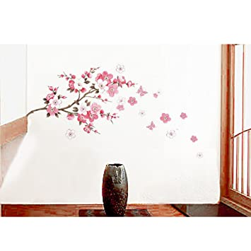 MZY LLC (TM) Cherry Blossom U0026 Butterfly Wall Decals Decorative Nursery Room Wall  Sticker Part 67