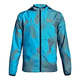 Under Armour Boys' Sackpack Jacket, Techno Teal (489)/Magma Orange, Youth X-Large