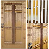 BeadedString Bamboo Beaded Curtain-Hand Painted Natural Bamboo Wood Beaded Door Beads-Doorway Curtain-90 Strands-Door