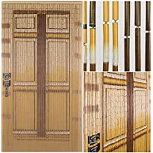 BeadedString Bamboo Beaded Curtain-Hand Painted Natural Bamboo Wood Beaded Door Beads-Doorway Curtain-90 Strands-Door