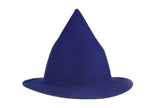 3458d62f2d1 Dantiya Women s Wool Felt Candy Colored Sharp Pointed Witch Hat (Purple)
