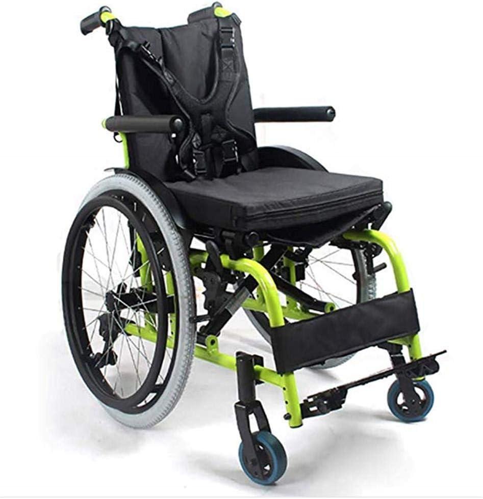 Silla De Ruedas Pediátrica para Niños, Portátil Plegable Silla De Ruedas De Viaje para Niños Ancho Ajustable del Asiento Trolley para Discapacitados