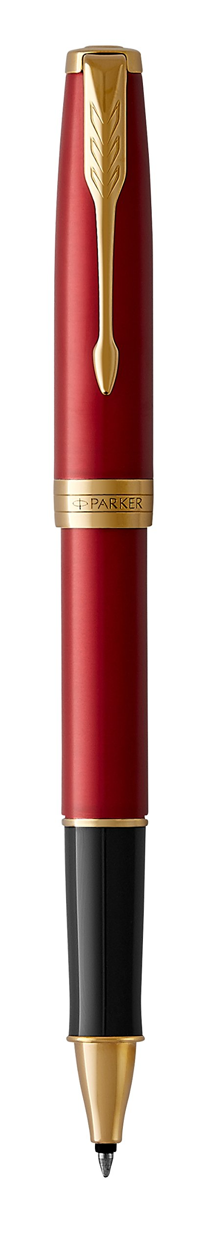 PARKER Sonnet Rollerball Pen, Red Lacquer with Gold Trim, Fine Point Black Ink (1931475) by Parker (Image #5)