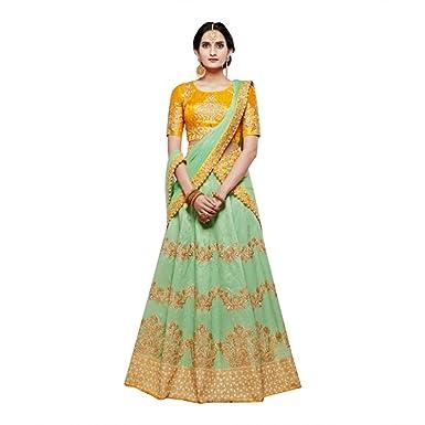b022c5ca03 Amazon.com  INDIAN LEHENGA CHOLI SARI SAREE GOWN BRIDAL WEDDING ETHNIC  BOLLYWOOD SALWAR SUIT WOMEN MUSLIM DRESS 519  Clothing