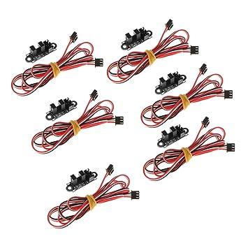 non-brand Interruptor Control Límite Tope Óptico Fin Carrera 6X ...