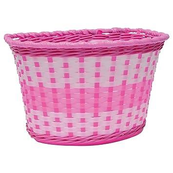 Oxford Girl S Woven Bike Basket Pink Sports