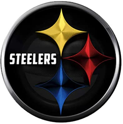 aec5d31c Image Unavailable. Image not available for. Color: NFL Cool Logo Pittsburgh  Steelers Football Fan Team Spirit 18MM - 20MM Fashion Jewelry Snap Charm