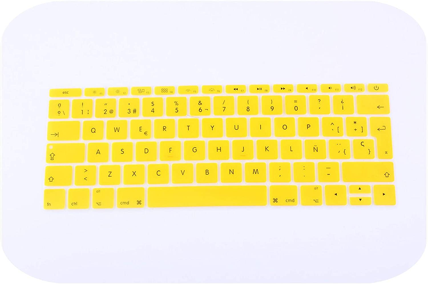 Colorful Keyboard Film for Mac Book pro 13 Spanish EU Silicone Keyboard Protector Cover Skin Protective Film-J