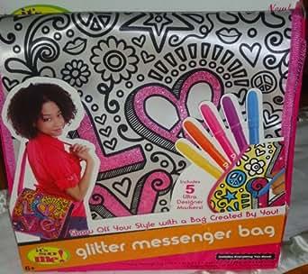 Its so Me Glitter Messenger Bag 6 Piece