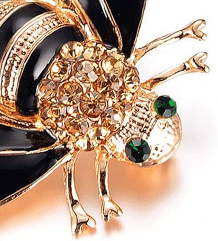 Femmes Filles Mini Abeille Broche Femme Banquet de bal de mariage Boucle Insect Cristal Broche breastpin