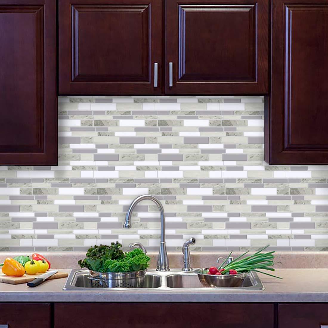 Fam Sticktiles Self Adhesive Tiles For Kitchen Backsplash Peel And Stick Tiles Backsplash Mosaic Tiles Kitchen Tile Transfers Stickers 10 X 10 5 Tiles Buy Online In Malta At Desertcart