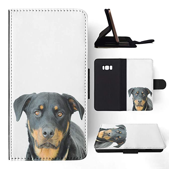 f638d99e7e42 Amazon.com  Rottweiler Dog 9 Flip Wallet Phone Case Cover for ...