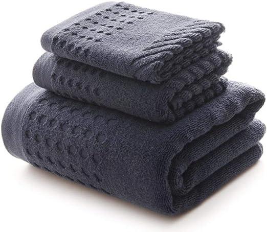 XCVB Absorbent Men Towel Set Toalla de baño de algodón Grande y ...