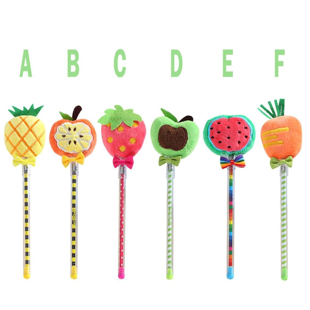 Inverlee Back to School Supplies, Cute Vegetable Fruit Plush Ball Creative Gel Pen Smooth Writing (Strawberry) by Inverlee School&Office Supplies (Image #7)