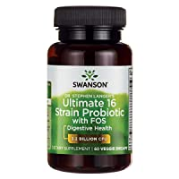 Swanson Probiotic with Prebiotic FOS Dr. Stephen Langer's Formula Digestive Support...