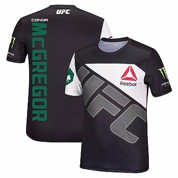 Conor McGregor UFC Reebok Black Fight Kit Walkout Jersey Jersey For Men (L)