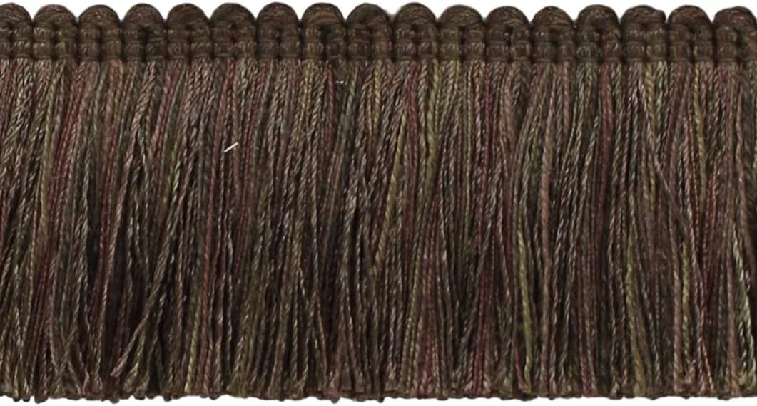 Chocolate 0200VB Chocolate Brown Style# Color D/ÉCOPRO 5 Yard Value Pack of Veranda Collection 2 inch Brush Fringe Trim Mocha