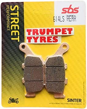 Triumph America 900 07 08 09 10 11 12 13 14 15 16 SBS Performance Rear Fast Road Sinter Sintered Brake Pads Set Genuine OE Quality 611LS