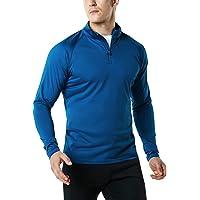 TESLA Men's 1/4 Zip HyperDri Cool Dry Active Sporty Shirt Top MKZ03