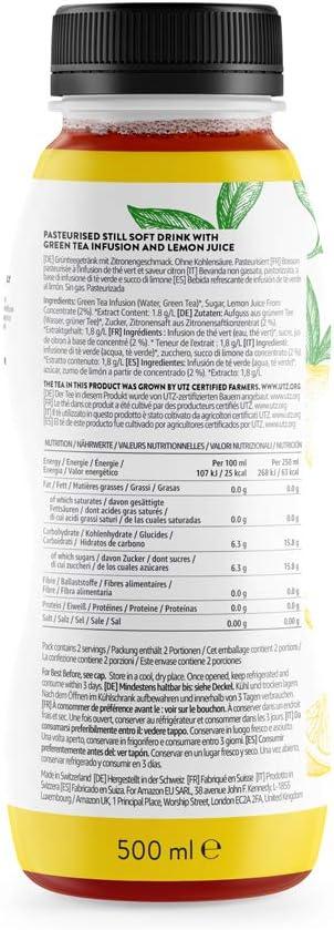 Marca Amazon - Happy Belly Select Té verde helado , 12 x 500 ml