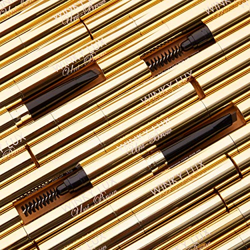 Winky Lux Uni-Brow Universal Eyebrow Pencil, New York Designed Brow Pencil Cosmetics with Duel Tip for Precisely Tinting…